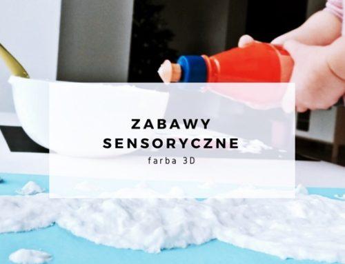 Bałwan – farba 3D – farba sensoryczna
