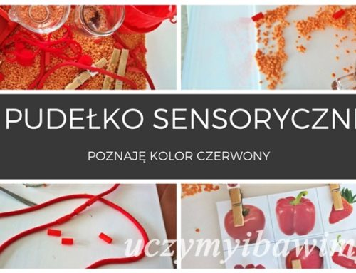 Pudełko sensoryczne – poznaję kolor czerwony