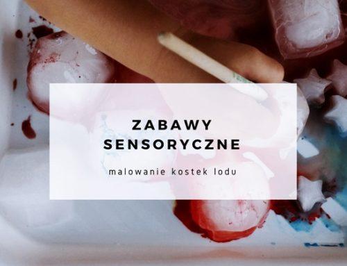 Kreatywne zabawy – malowanie kostek lodu