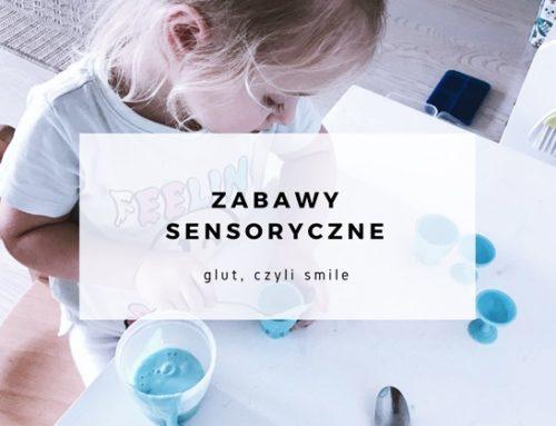 Zabawy sensoryczne – glut, czyli smile
