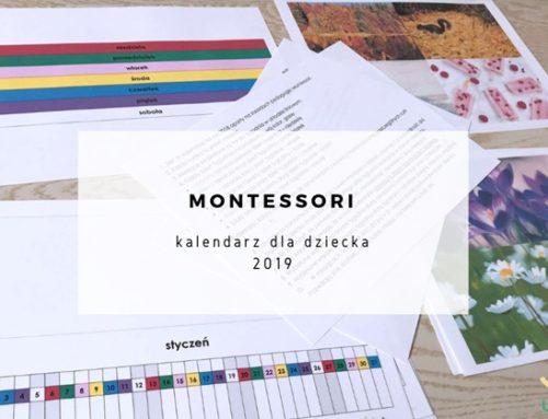 Kalendarz 2019 dla dziecka w metodzie Montessori + plik za darmo