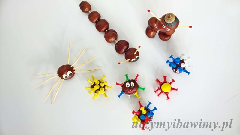 kasztanowe ludziki | co zrobić z kasztanów | pomysły na zabawy z małym dzieckiem | jesień