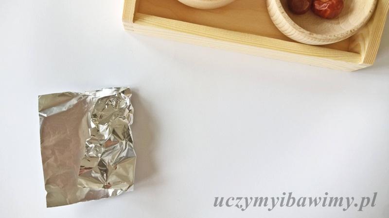 Kasztany i folia aluminiowa