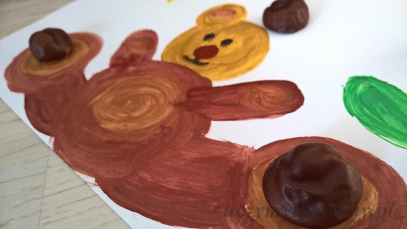 Malowanie farbami - kasztany