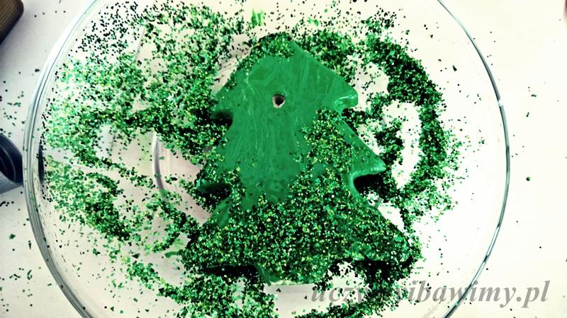 Masa solna - brokatowa choinka