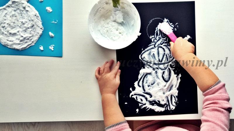 Praca plastyczna dla przedszkolaka zima