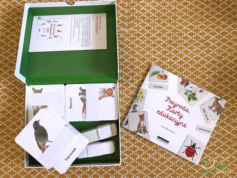 montessori karty trójdzielne