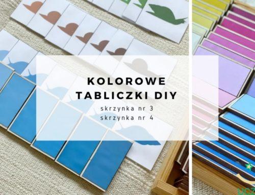 Kolorowe tabliczki DIY – skrzynka nr 3 i skrzynka nr 4