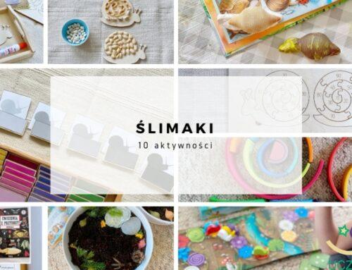 Ślimaki – 10 zabaw dla dzieci